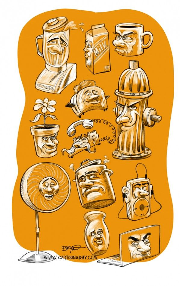 animated inanimate objects daily cartoons ap  a quick caricature of appliances
