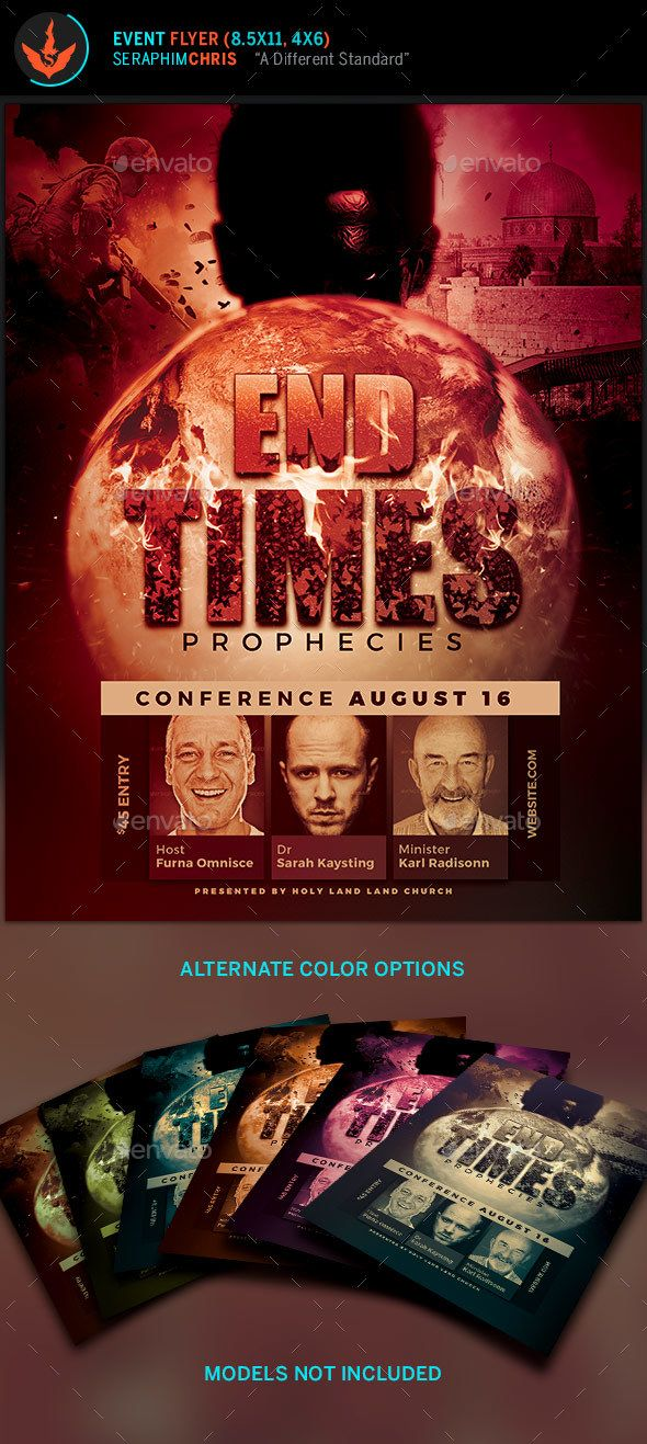 End Times Prophecies Conference Flyer Template Flyer template - conference flyer template
