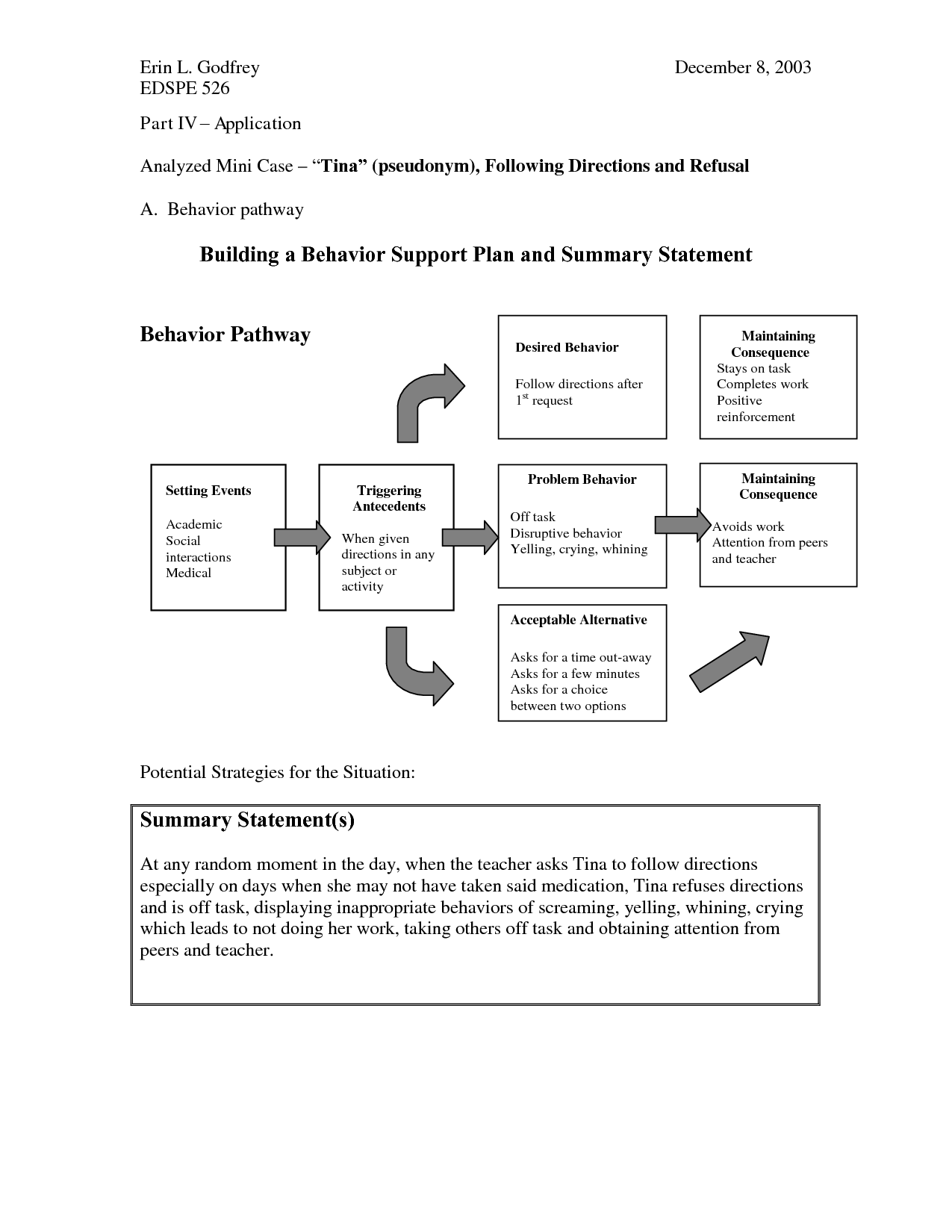 How Does Classroom Design And Organization Support Learning And Positive Behavior ~ Positive behavior support plan document sample
