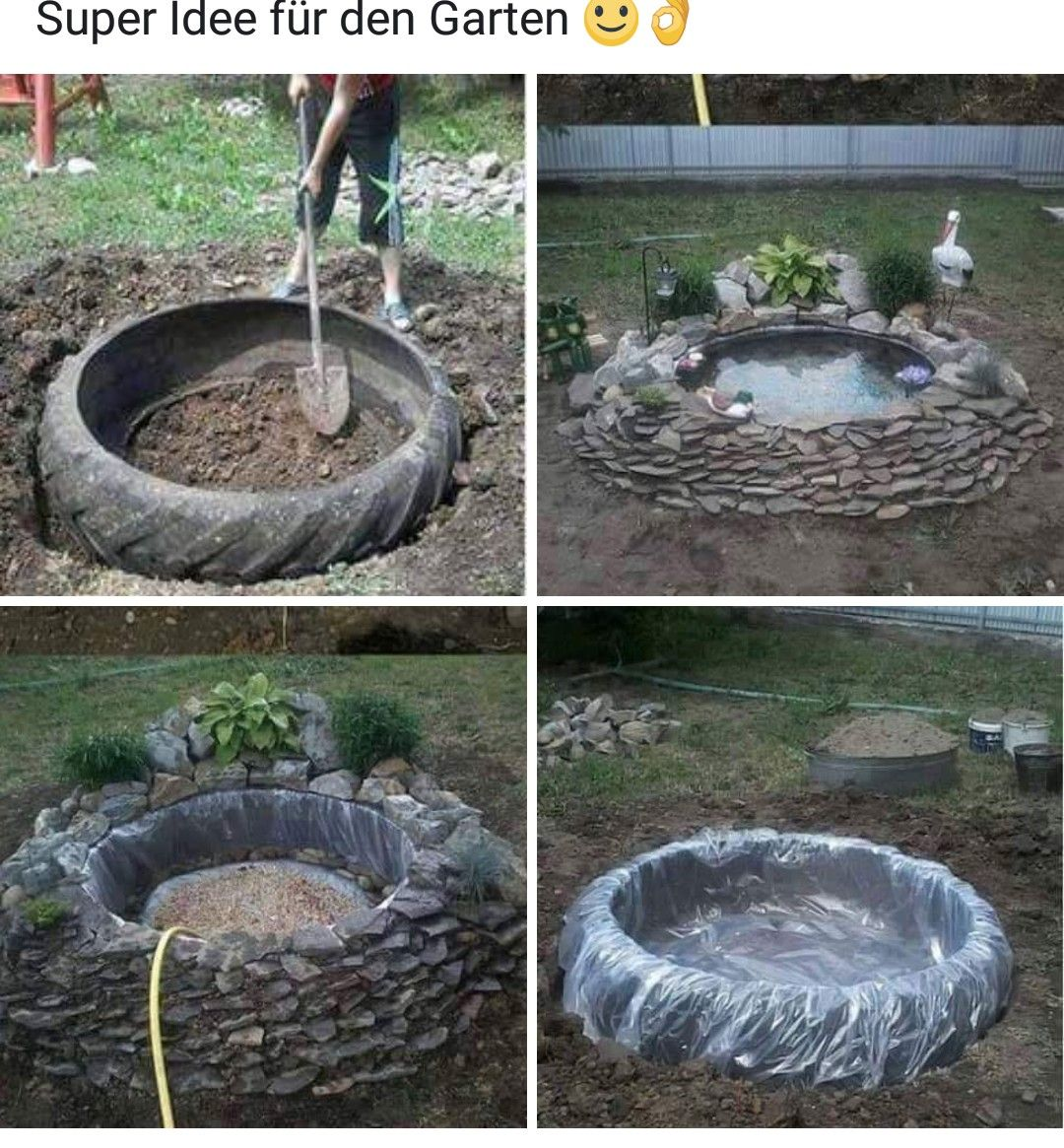 Gartenteich Aus Treckerreifen Quelle Facebook Gartenteich Reifen Teich Garten