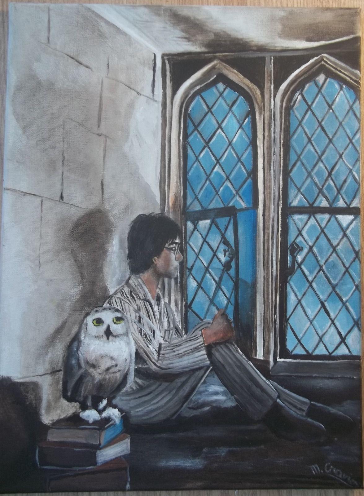 tableau peinture harry potter