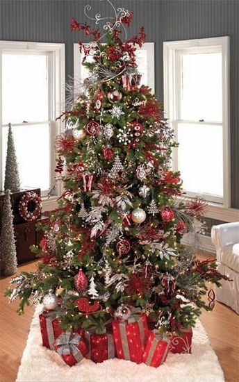 Christmas Tree picks. I like the silver leaves and the ...