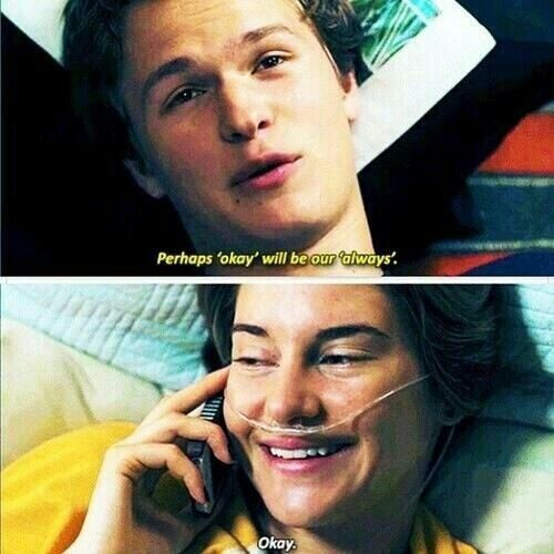 The Fault In Our Stars Bankje.Ansel Elgort And Shailene Woodley The Fault In Our Stars Hazel