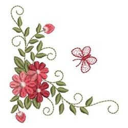 Butterfly Daisies Embroidery Designs, Machine Embroidery Designs at EmbroideryDesigns.com