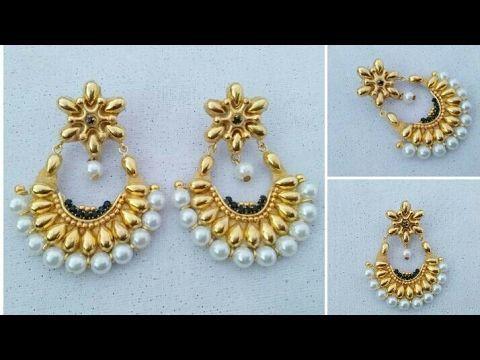 How To Make Designer Earrings Chandbali Earrings Paper