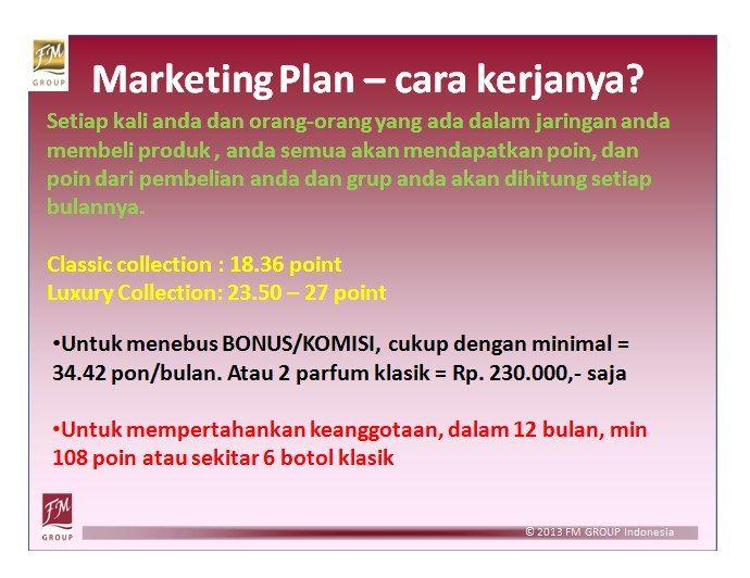 Marketing plan dan cara kerja FM