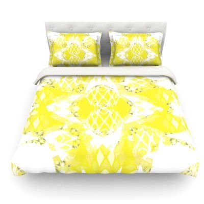 East Urban Home Citrus Spritz by Miranda Mol Featherweight Duvet Cover Size: Twin, Fabric: Woven Polyester