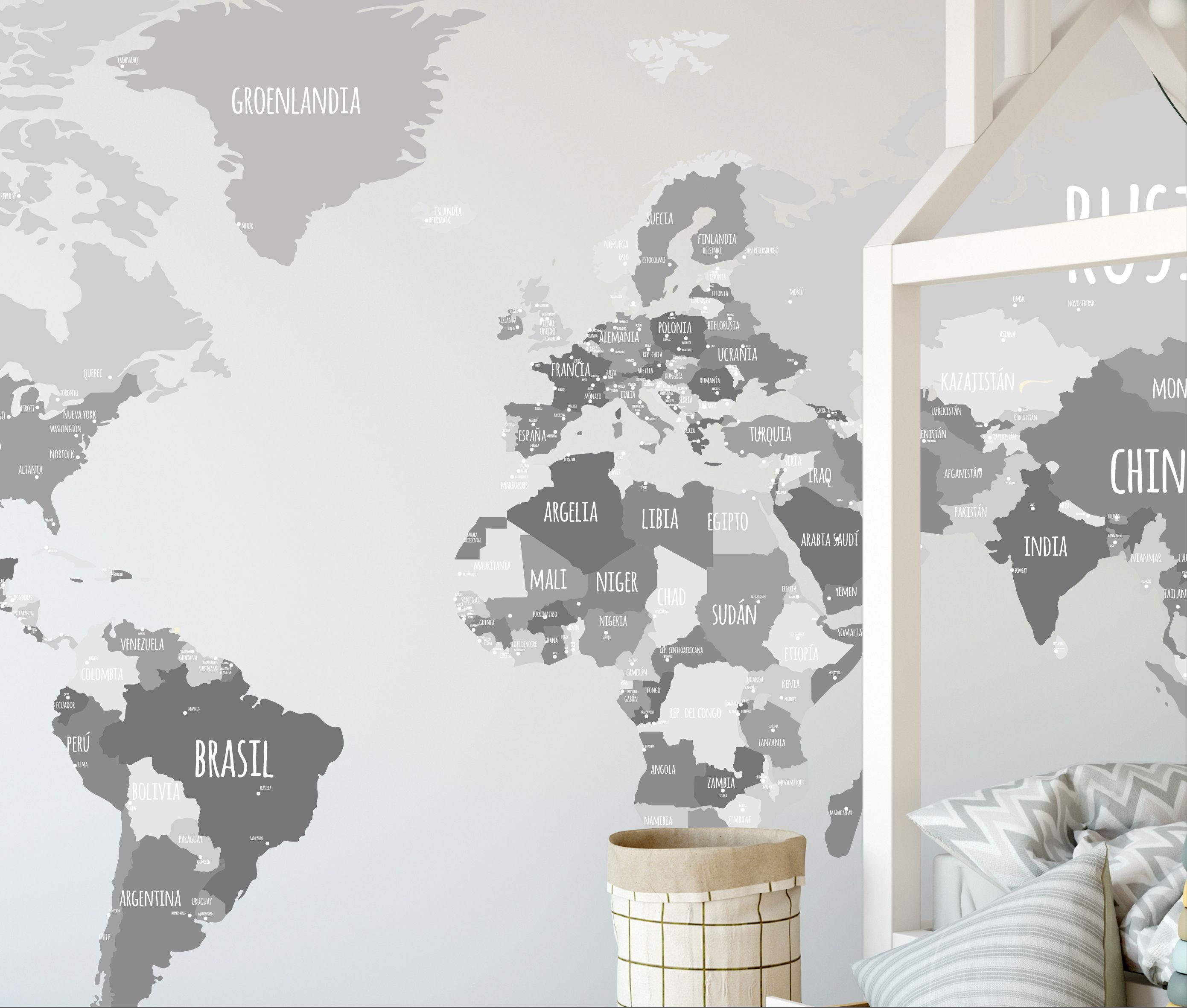 Los mapamundi son una opción perfecta para decorar y educar al mismo ...