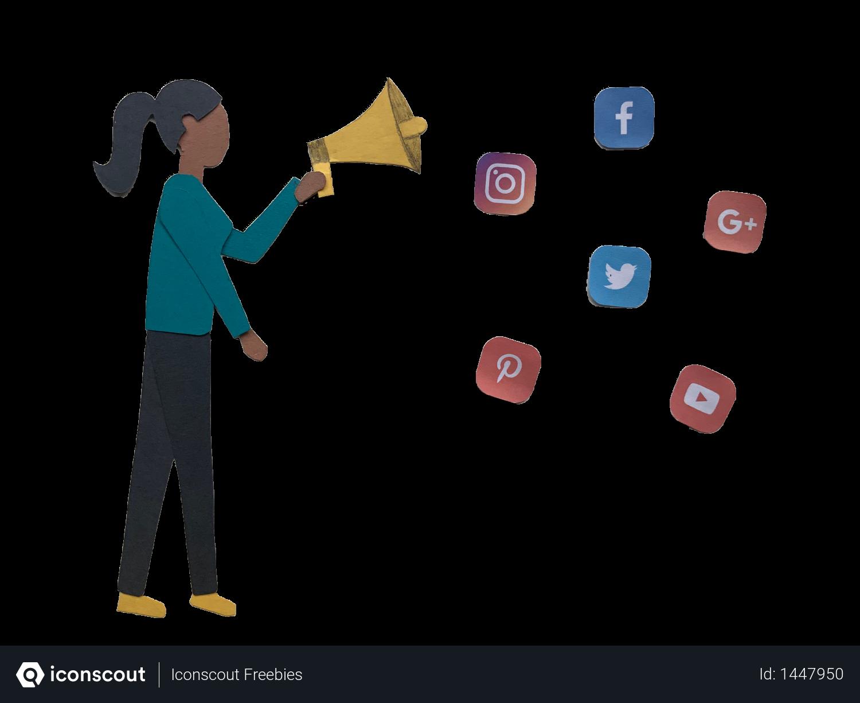 Free Social Media Marketing Illustration Download In Png Vector Format Free Social Media Marketing Free Social Media Media Marketing