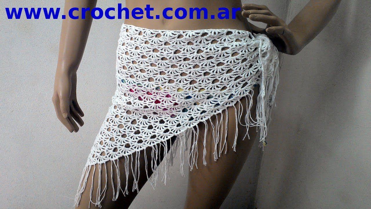 846d965a1a9f Pareo para la playa en tejido crochet tutorial paso a paso ...