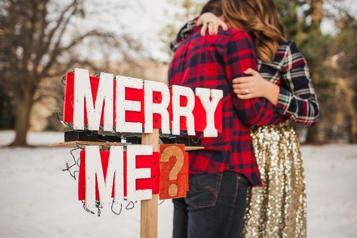Der süßeste Weihnachts-Heiratsantrag, den Sie jemals sehen werden   – plans<3<3