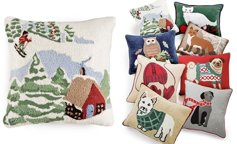 Macy's Decorative Pillows Fascinating Martha Stewart Collection Winter And Animals Decorative Pillow Inspiration Design