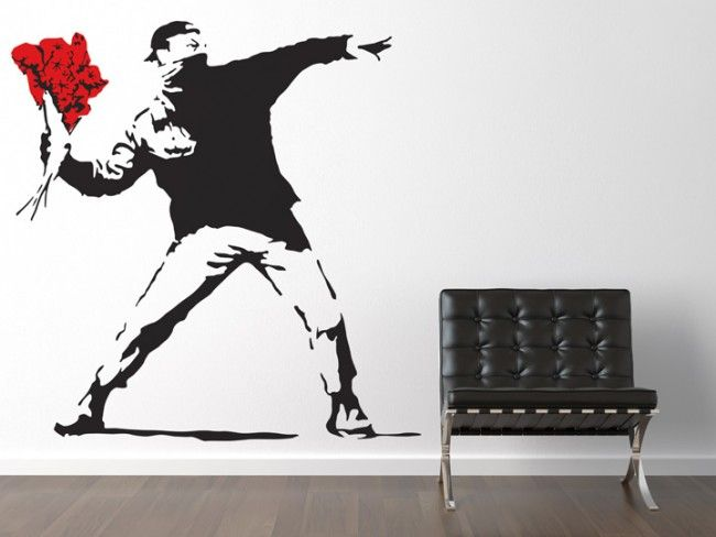 Cool Banksy Mural Graffiti Wall Stickers Interior