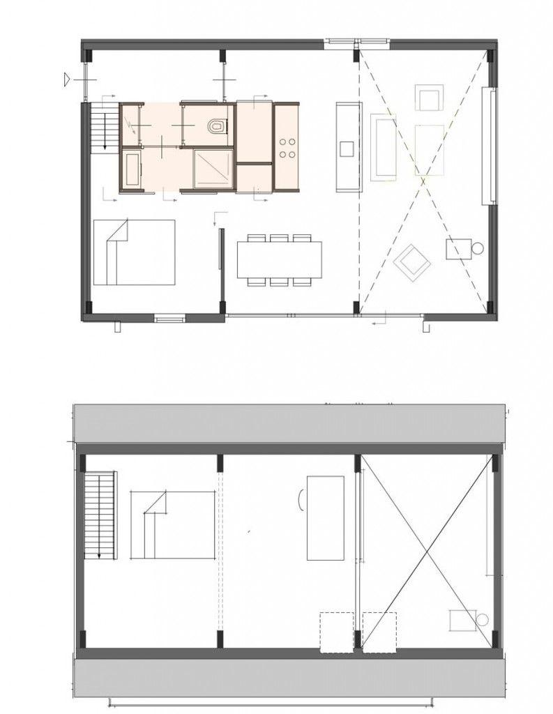 plattegrond prefab recreatie woning duinhuis   house maison ...
