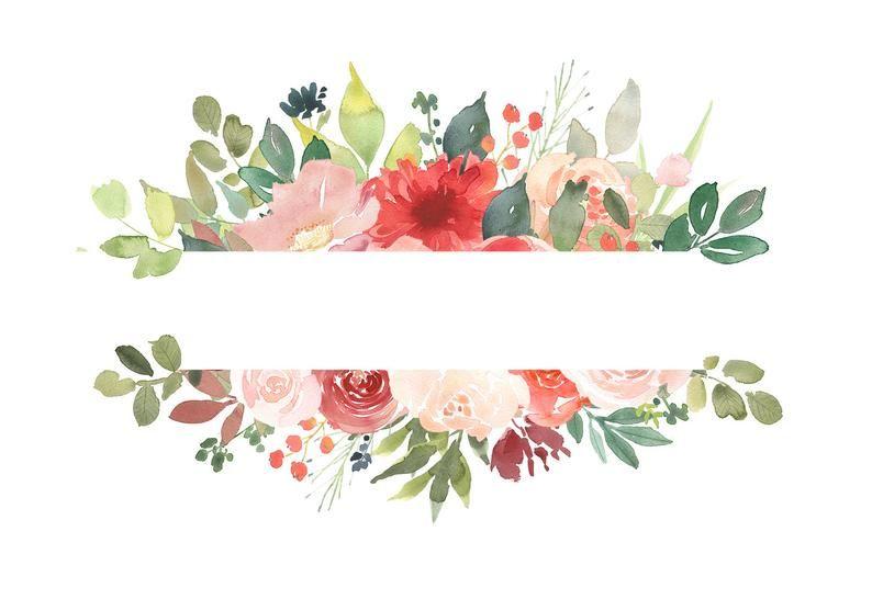Watercolor Flower Frames Clipart Flower Border Clipart Etsy In 2021 Flower Border Clipart Floral Border Design Flower Border
