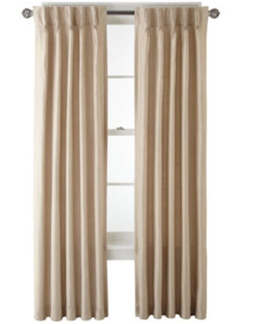 New Royal Velvet Supreme Pinch Pleat Back Tab Curtain Panel 75 X