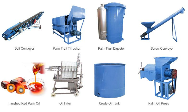 Palm Oil Processing Equipment For Small Scale Palm Oil Mill Plant Palm Oil Red Palm Oil Oils