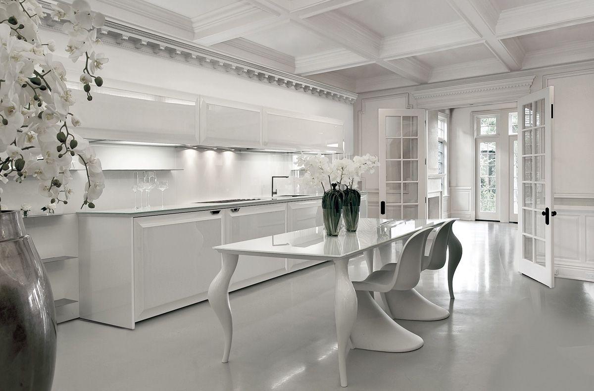 العصرية والفخامة في 10 مطابخ مودرن بتصميمات إيطالية مجلة ديكورات عالم من ديكور المنازل و التصميم Minimalist Kitchen White Kitchen Design Home Decor Kitchen