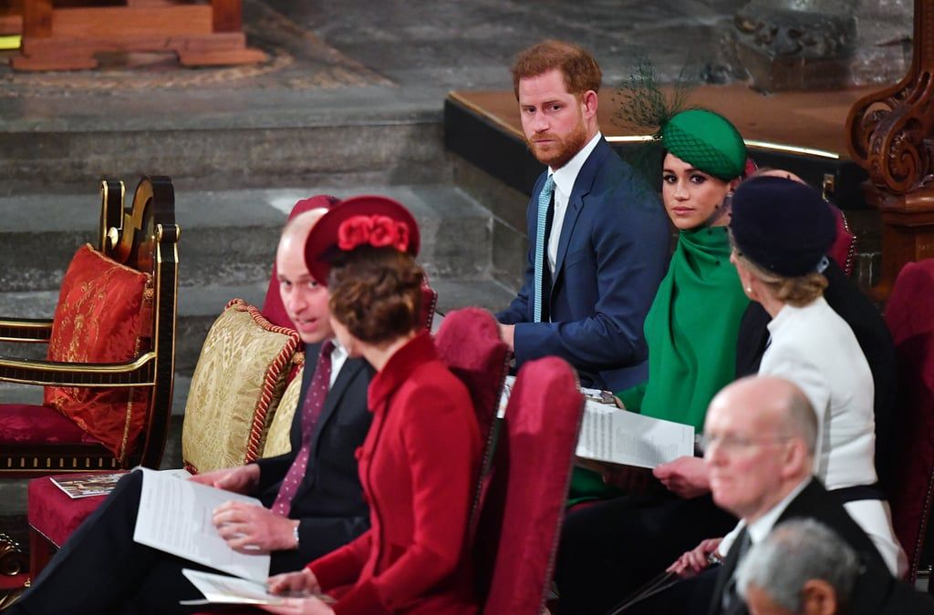 William, Kate, Harry, and Meghan at Commonwealth Day Service 2020 | Kate  and harry, Prince harry and meghan, Westminster abbey