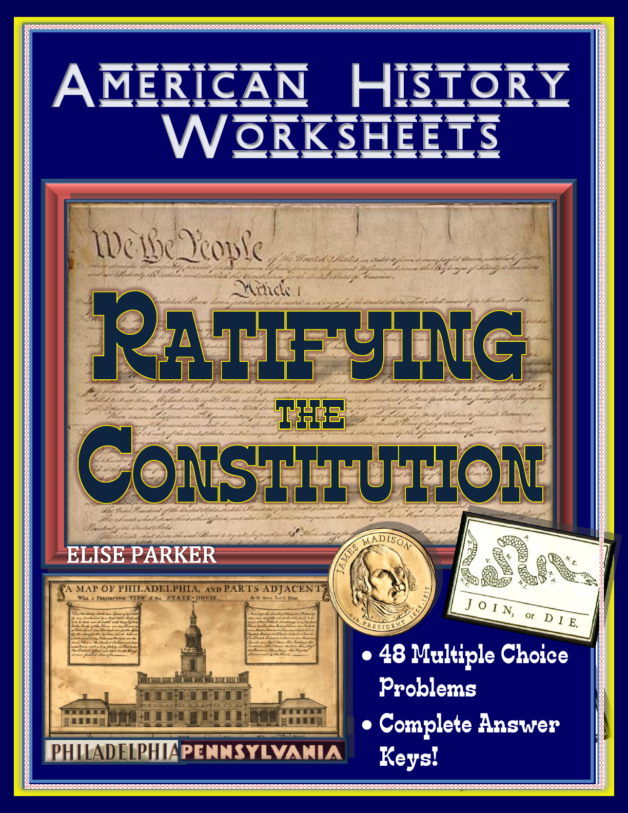 American History Worksheets Ratifying The Constitution Worksheet