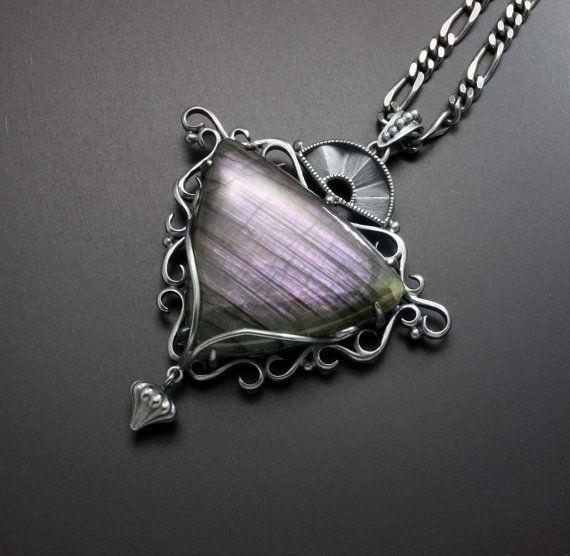 Labradorite silver pendant by KAZism on Etsy, (C) Kazuhiko Ichikawa