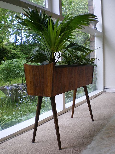 Danish Rosewood Interior Planter Apt Retro Home Decor