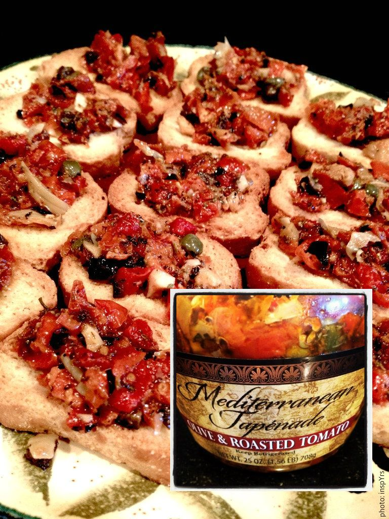 Serve Up Chef Oh S Mediterranean Olive Tomato Tapenade Bruschetta Style At Your Next Gathering Simply The Best This Fotis And Food Tapenade Appetizers