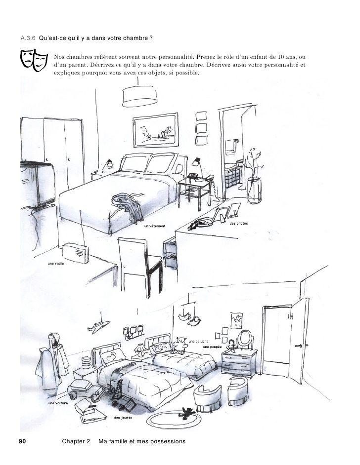 dessin pour d crire les objets de ta maison et les situer dans l espace fran ais pinterest. Black Bedroom Furniture Sets. Home Design Ideas