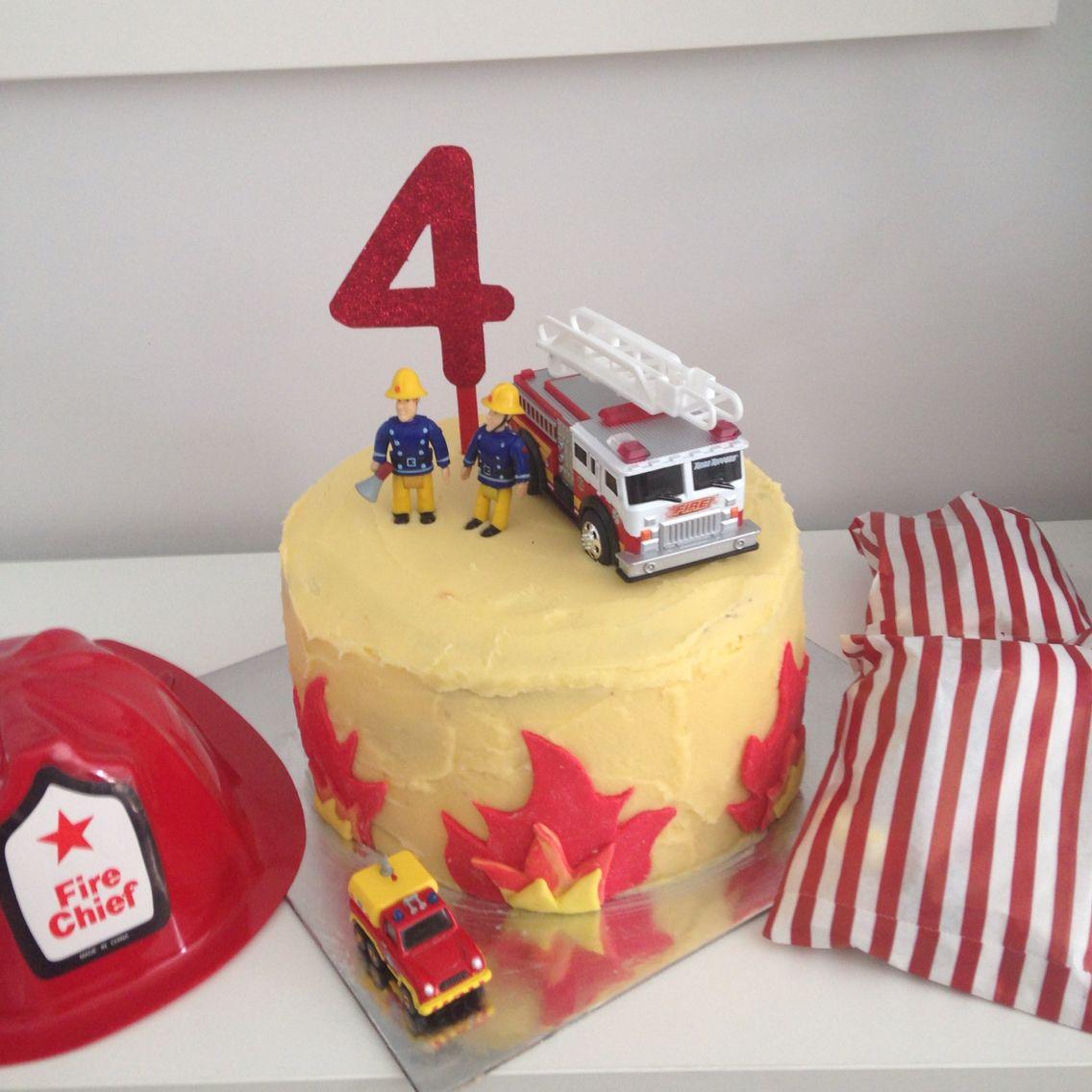 Easy Fireman Sam Cake Connor 3rd Birthday Pinterest Fireman