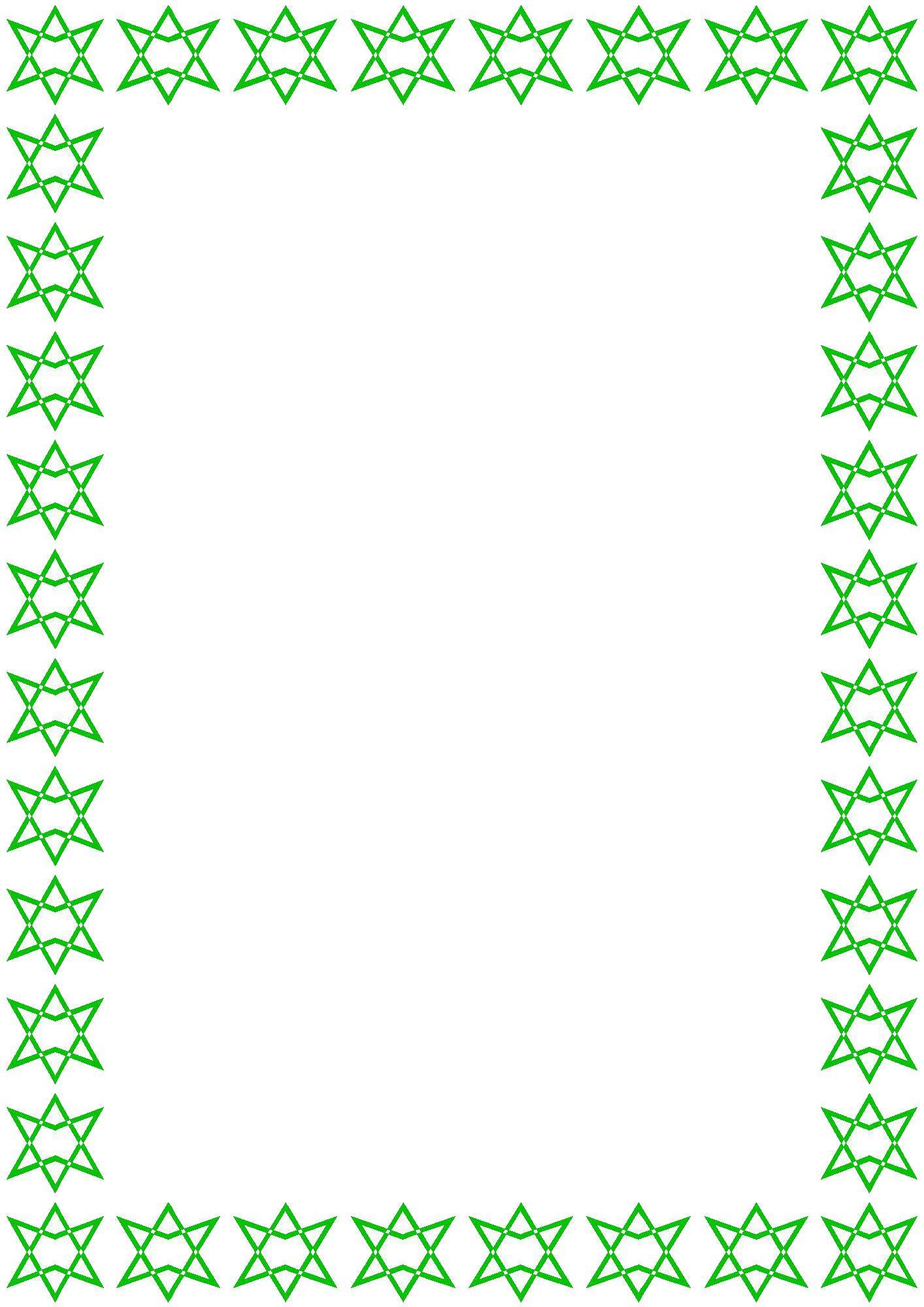 フレーム枠イラスト「緑の星」 | ramar ( frame ) | pinterest | 枠
