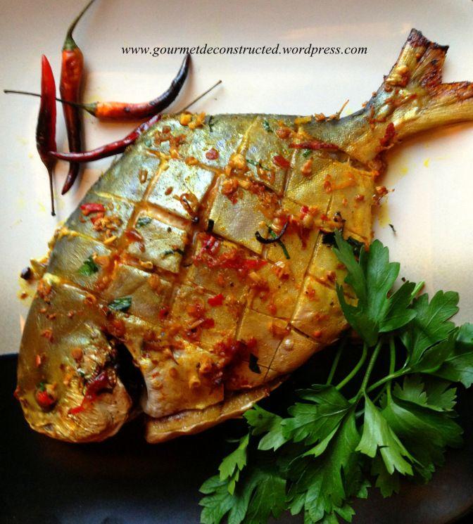 Vietnamese Baked Pompano (jack fish)                              …
