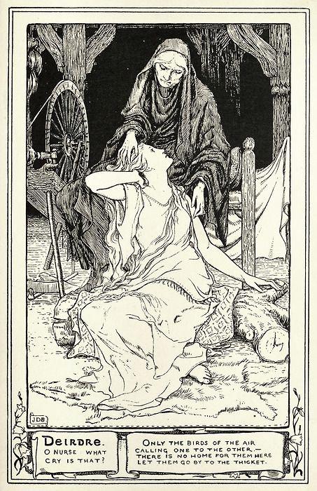 John D Batten Illustration To The Shee An Gannon From Celtic