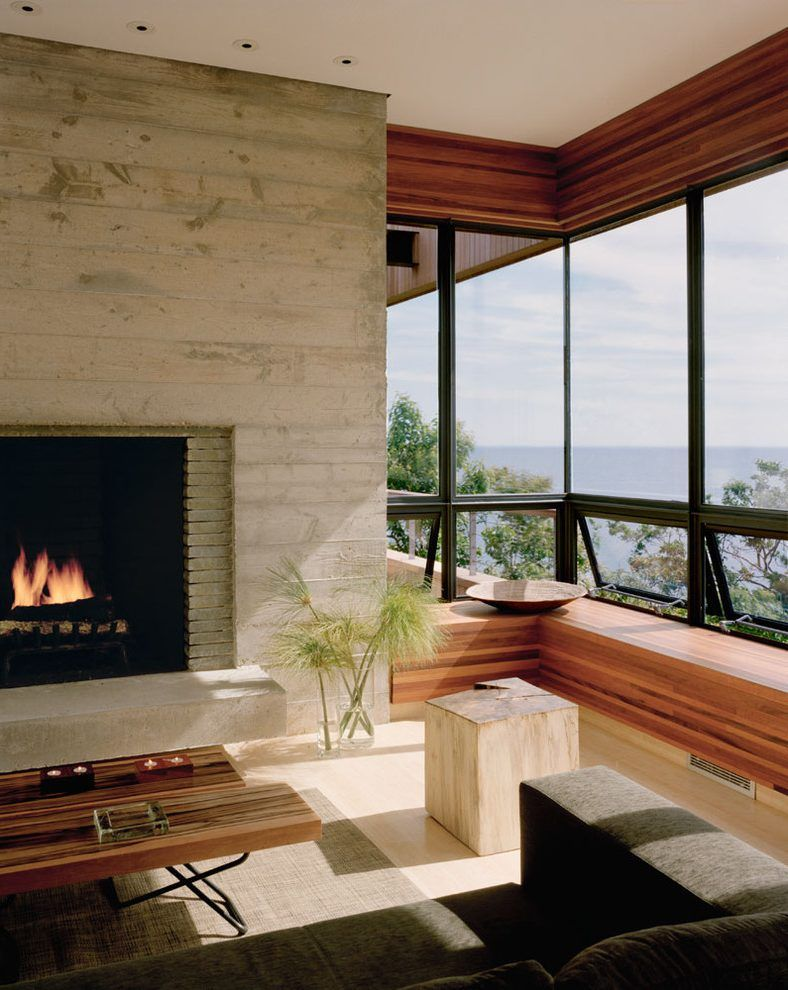 Board Formed Concrete Fireplace Fireplace Design