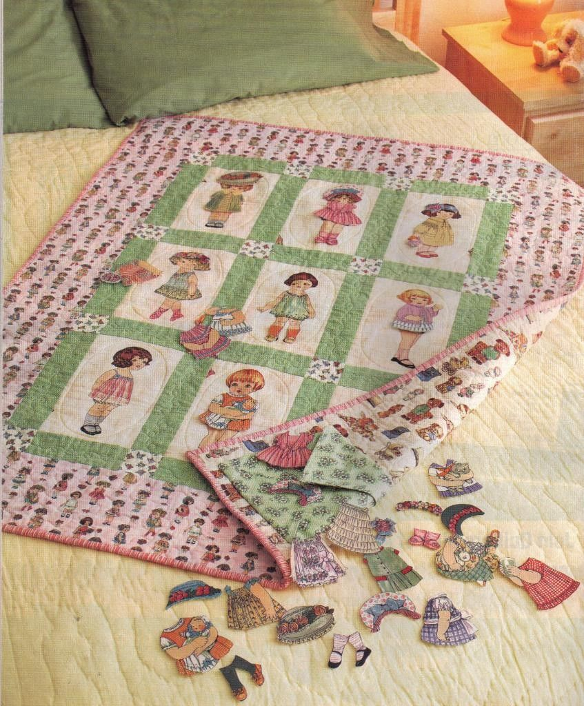 Paper Doll Quilt quilts ,applique and patchwork Pinterest Doll quilt, Dolls and Fabric panels