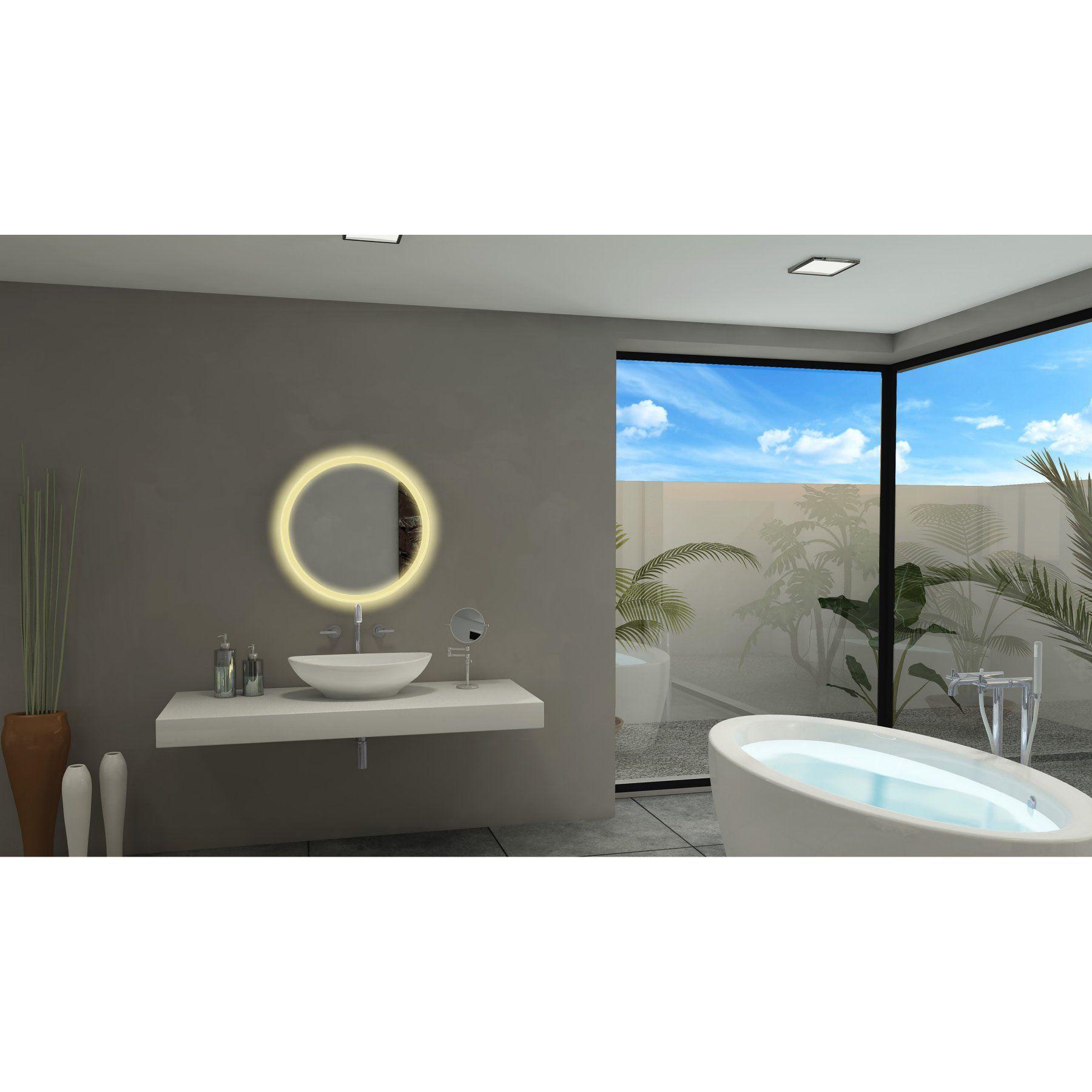 Paris Mirror Round Illuminated Bathroom Wall Mirror - ROUN24243000D ...