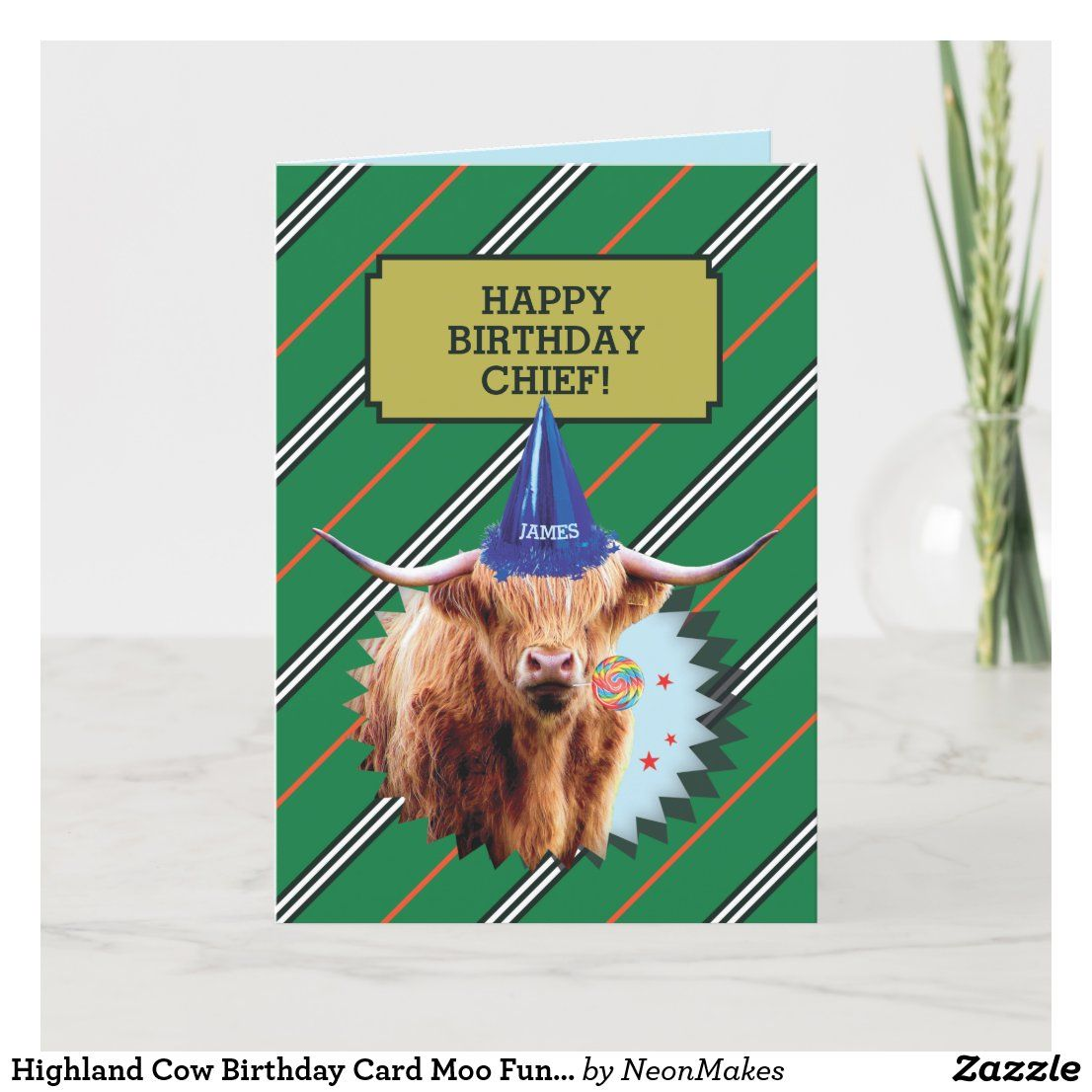 Funny Old Man Birthday Card With Highland Cow Zazzle Com Old Man Birthday Birthday Cards For Men Funny Birthday Cards