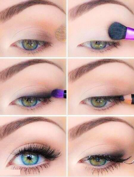 Maquillaje-de-Ojos-Natural-5 Maquillaje Pinterest Maquillaje - maquillaje natural de dia