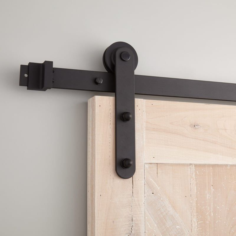 Signature Hardware 440913 10 D Emile 120 Inch Barn Door Hardware Set Includes Black Barn Door Hardware Fitti In 2020 Barn Door Hardware Barn Door Interior Barn Doors