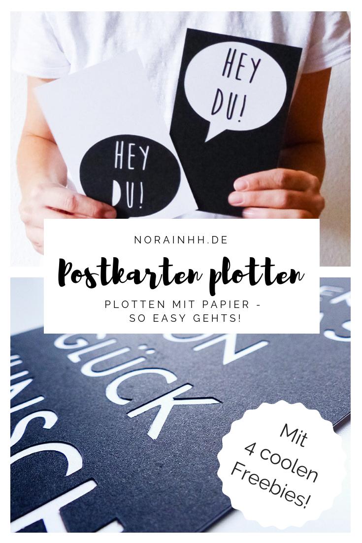 Papier plotten: Coole Postkarten easy & individuell gestalten | norainhh.de