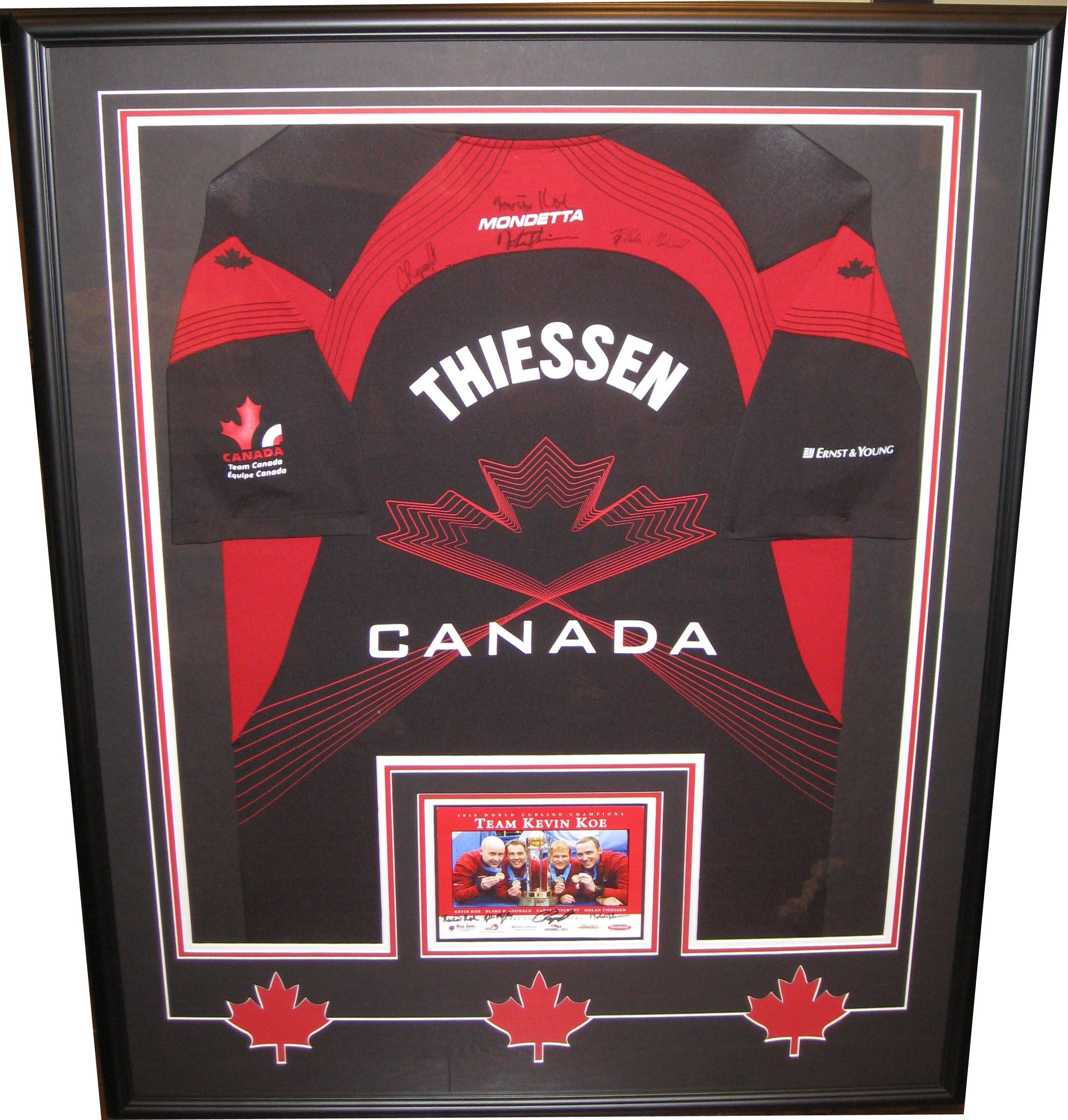 Team canada curling jersey from kevin koes world curling team canada curling jersey from kevin koes world curling championship team framed up for customer custom framingcurlingmaple jeuxipadfo Choice Image
