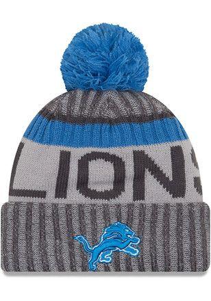 3840a657475 New Era Detroit Lions Blue 2017 Official Sport Kids Knit Hat ...