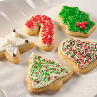Snow -Topped Holiday Sugar Cookies Recipe Sugar cookies, Snow