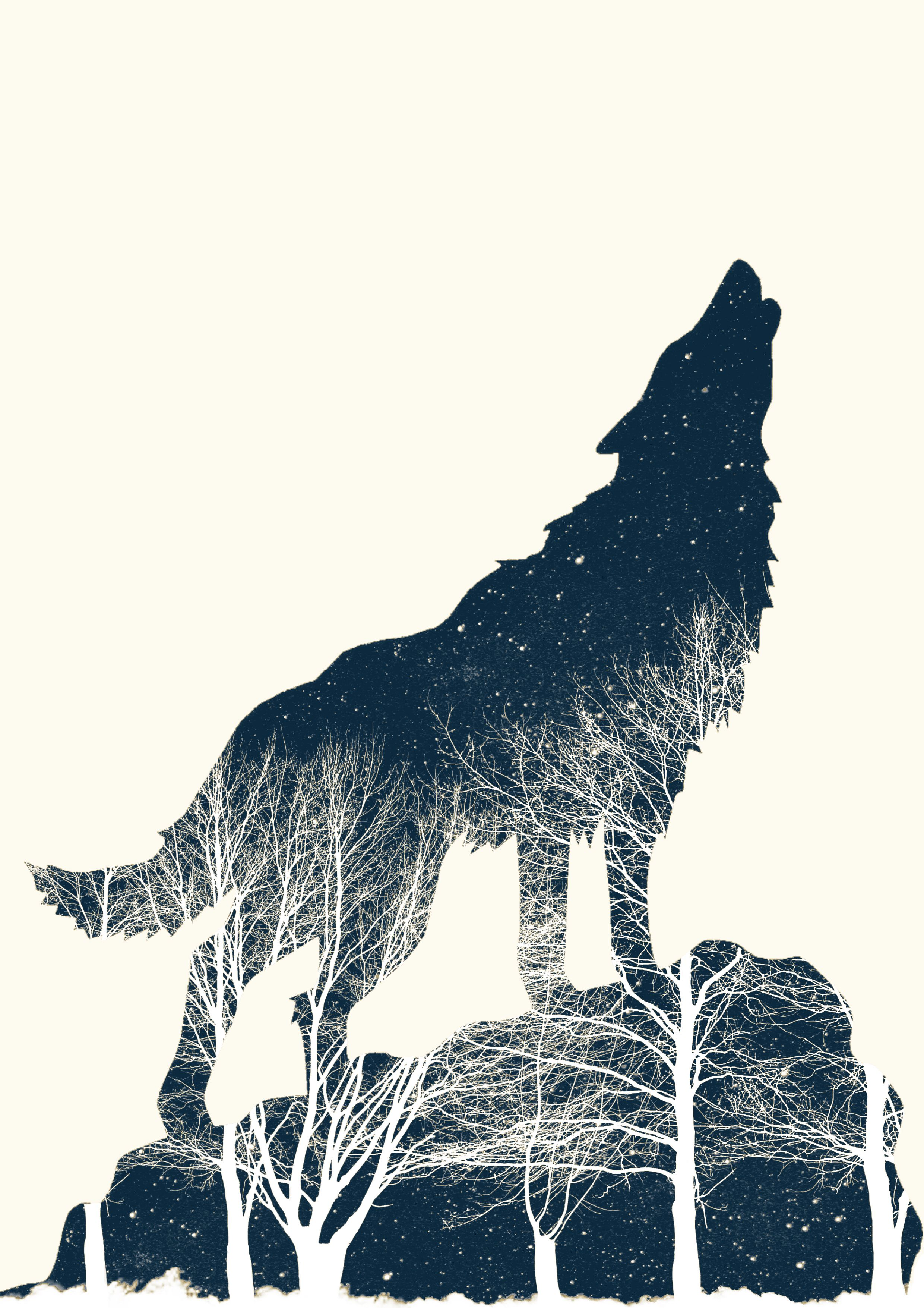Pin On Positive Space: Negative Space Art, Negative, Positive Space, Wolf Artwork