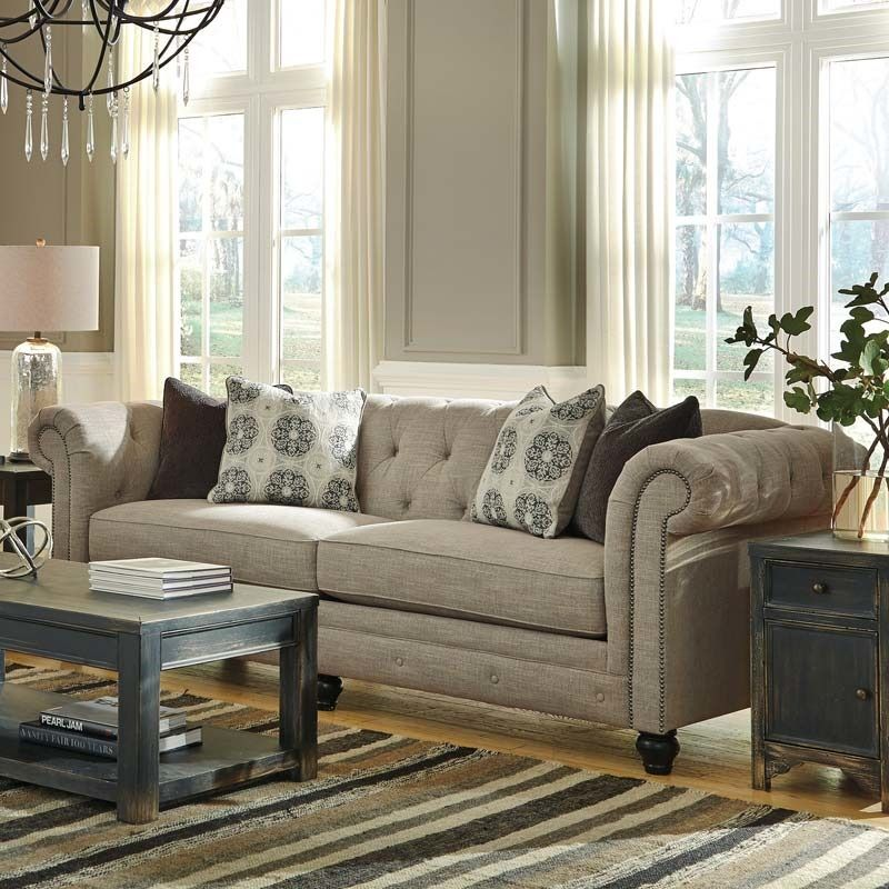 Ashley Alia Tufted Roll Back Sofa | Furniture and Mattress Outlet