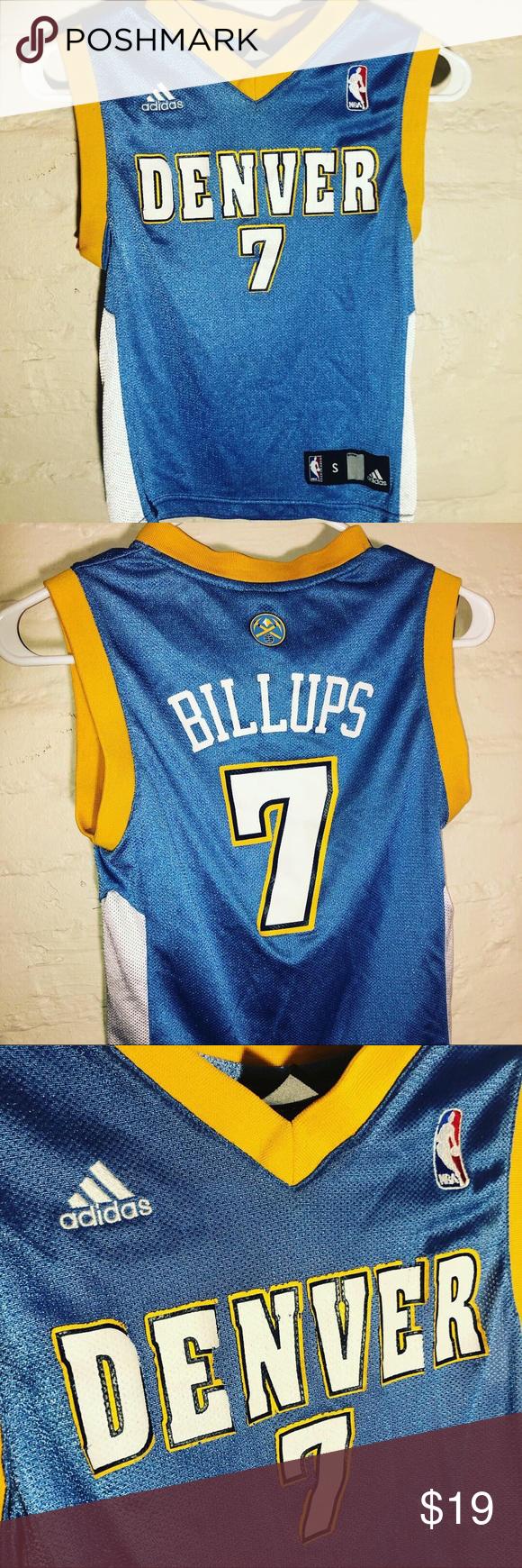 quality design 8bafc 1ebe6 Denver Nuggets NBA Basketball Jersey Adidas Small ...