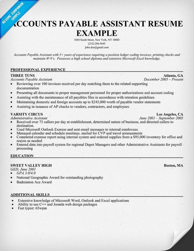 Accounts Payable Manager Resume Sample  Zm Sample Resumes  Zm