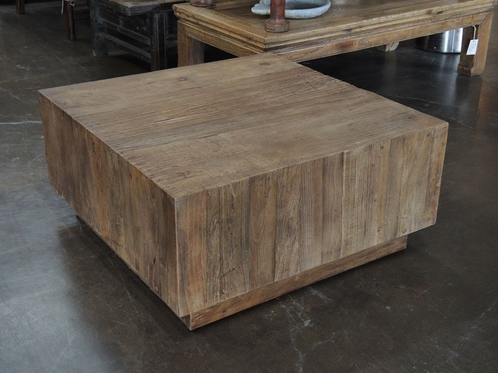 Reclaimed Wood Square Coffee Table By Terra Nova Furniture Los - Reclaimed wood coffee table los angeles