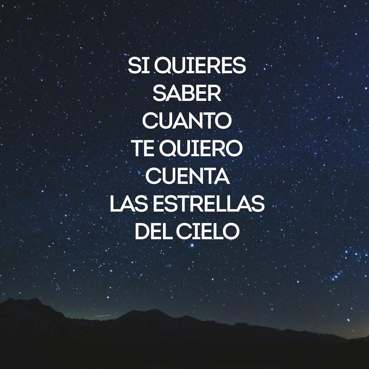 Son Infinitas Las Estrellas Frases De Amor Frases