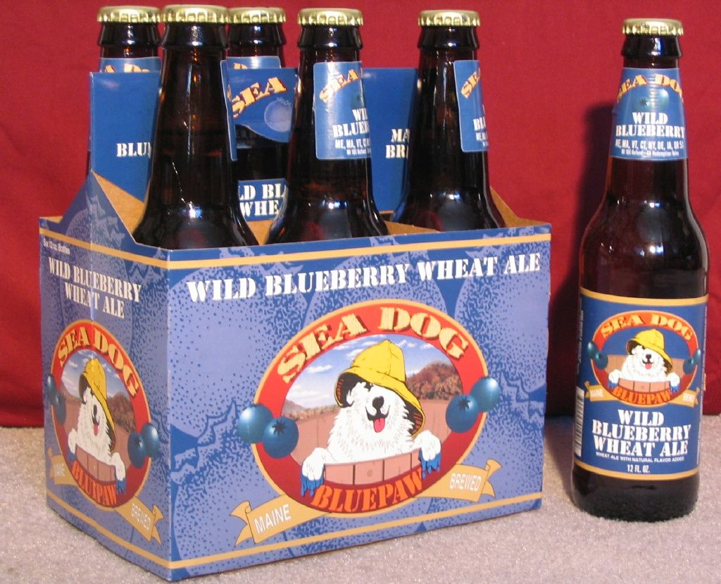 Sea Dog Bluepaw Wild Blueberry Wheat Ale--This might be my all-time fave beer!