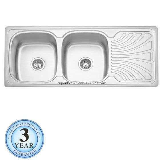 Hot Item Double Bowl Stainless Steel Kitchen Sink With Drain Board Ps 351 Stainless Steel Kitchen Sink Stainless Steel Kitchen Kitchen Sink
